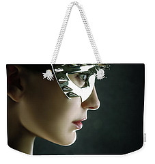 Weekender Tote Bag featuring the photograph Silver Spike Beauty Mask by Dimitar Hristov