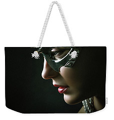 Weekender Tote Bag featuring the photograph Silver Spike Eye Mask by Dimitar Hristov