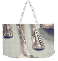 Weekender Tote Bag featuring the photograph Silver Spoons by Lyn Randle