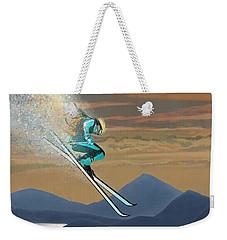 Silver Star Ski Poster Weekender Tote Bag