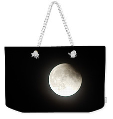 Silver White Eclipse Weekender Tote Bag