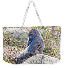 Weekender Tote Bag featuring the photograph Silverback Gorilla  by Donna Brown