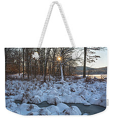 Silvermine Lake Sunburst Weekender Tote Bag