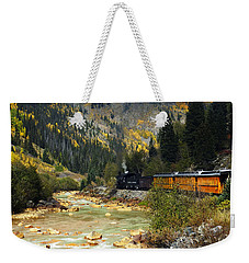Weekender Tote Bag featuring the photograph Silverton Bound by Kurt Van Wagner