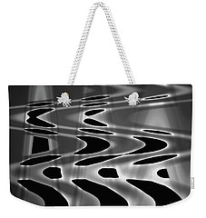 Silvery Abstraction Bw  Weekender Tote Bag