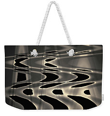 Silvery Abstraction Toned  Weekender Tote Bag