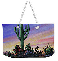 Simple Desert Sunset Two Weekender Tote Bag