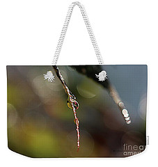 Weekender Tote Bag featuring the photograph Simple Droplet by Yumi Johnson