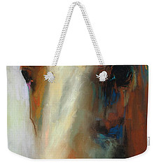 Weekender Tote Bag featuring the painting Simple Horse by Frances Marino