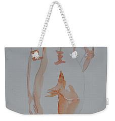 Weekender Tote Bag featuring the painting Simple Nude by Beverley Harper Tinsley