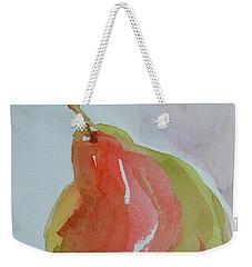 Weekender Tote Bag featuring the painting Simple Pear by Beverley Harper Tinsley
