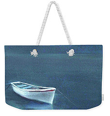 Simple Serenity - Lone Boat Weekender Tote Bag