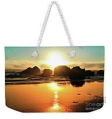 Simple Sunset Weekender Tote Bag