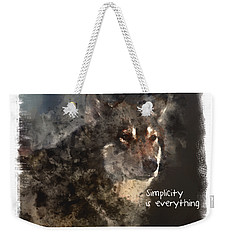 Simplicity Weekender Tote Bag by Elaine Ossipov