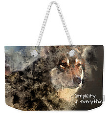 Simplicity Is Everything -light Weekender Tote Bag by Elaine Ossipov