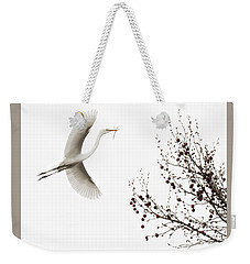 Weekender Tote Bag featuring the photograph Simplicity by Melinda Hughes-Berland