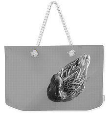 Weekender Tote Bag featuring the photograph Simply Duck by Esther Newman-Cohen