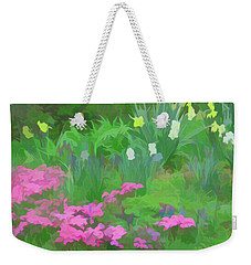 Weekender Tote Bag featuring the photograph Simply Soft Garden Escape by Aimee L Maher Photography and Art Visit ALMGallerydotcom