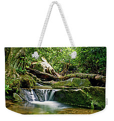 Weekender Tote Bag featuring the photograph Sims Creek Waterfall by Meta Gatschenberger