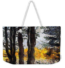 Simulated Van Gogh Scene Weekender Tote Bag