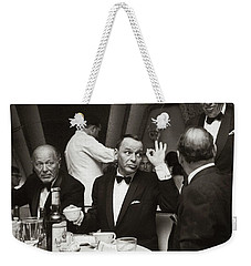 Sinatra And Ed Sullivan At The Eden Roc - Miami - 1964 Weekender Tote Bag