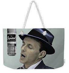 Sinatra - Color Weekender Tote Bag by Paul Tagliamonte