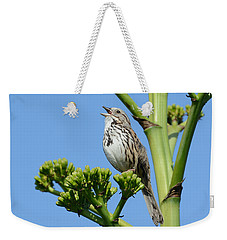 Weekender Tote Bag featuring the photograph Sing A Song by Fraida Gutovich