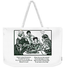 Sing A Song Of Sixpence Nursery Rhyme Weekender Tote Bag