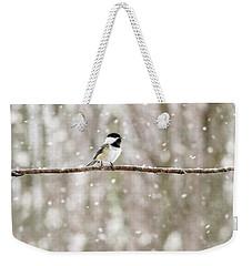 Sing Chickadee Sing Weekender Tote Bag by Angie Rea