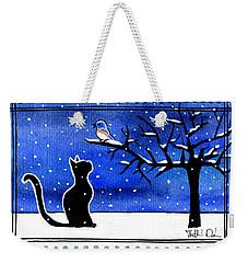 Sing For Me - Black Cat Card Weekender Tote Bag