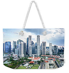 Singapore Cityscape Weekender Tote Bag