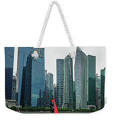 Singapore Harbour Weekender Tote Bag by Jocelyn Kahawai