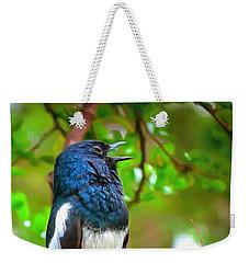 Singing Ceylonese Robin-magpie Weekender Tote Bag