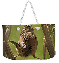 Singing Marsh Wren Weekender Tote Bag