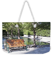 Single Bench Weekender Tote Bag by Ricky Dean