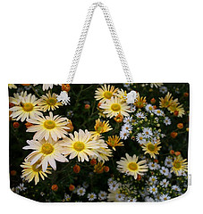 Weekender Tote Bag featuring the photograph Single Chrysanthemums by Kathryn Meyer