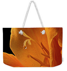 Weekender Tote Bag featuring the photograph Single Drop by Jean Noren