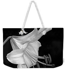 Single Lily In Black And White. Weekender Tote Bag