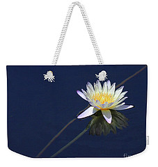 Single Lotus Weekender Tote Bag