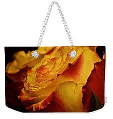 Single March Vintage Rose Weekender Tote Bag by Richard Cummings