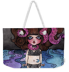 Single Night With The Octopus Weekender Tote Bag