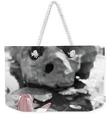 Single Pink Flower Weekender Tote Bag