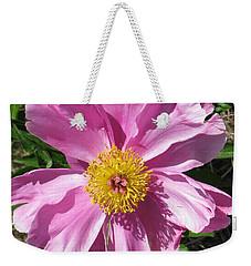 Single Pink Peony Weekender Tote Bag
