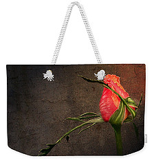 Single Rose Weekender Tote Bag by Ann Lauwers