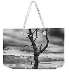 Single Tree In Black And White Weekender Tote Bag