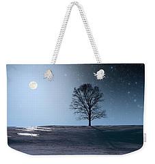 Single Tree In Moonlight Weekender Tote Bag by Larry Landolfi