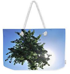 Single Tree - Sun And Blue Sky Weekender Tote Bag by Matt Harang