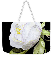 Single White  Bloom  Weekender Tote Bag