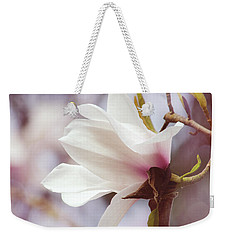 Single White Magnolia Weekender Tote Bag by Jordan Blackstone