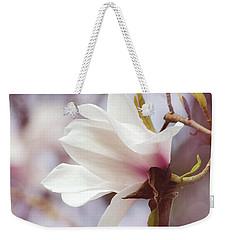 Single White Magnolia Weekender Tote Bag by Jordan Blackstone